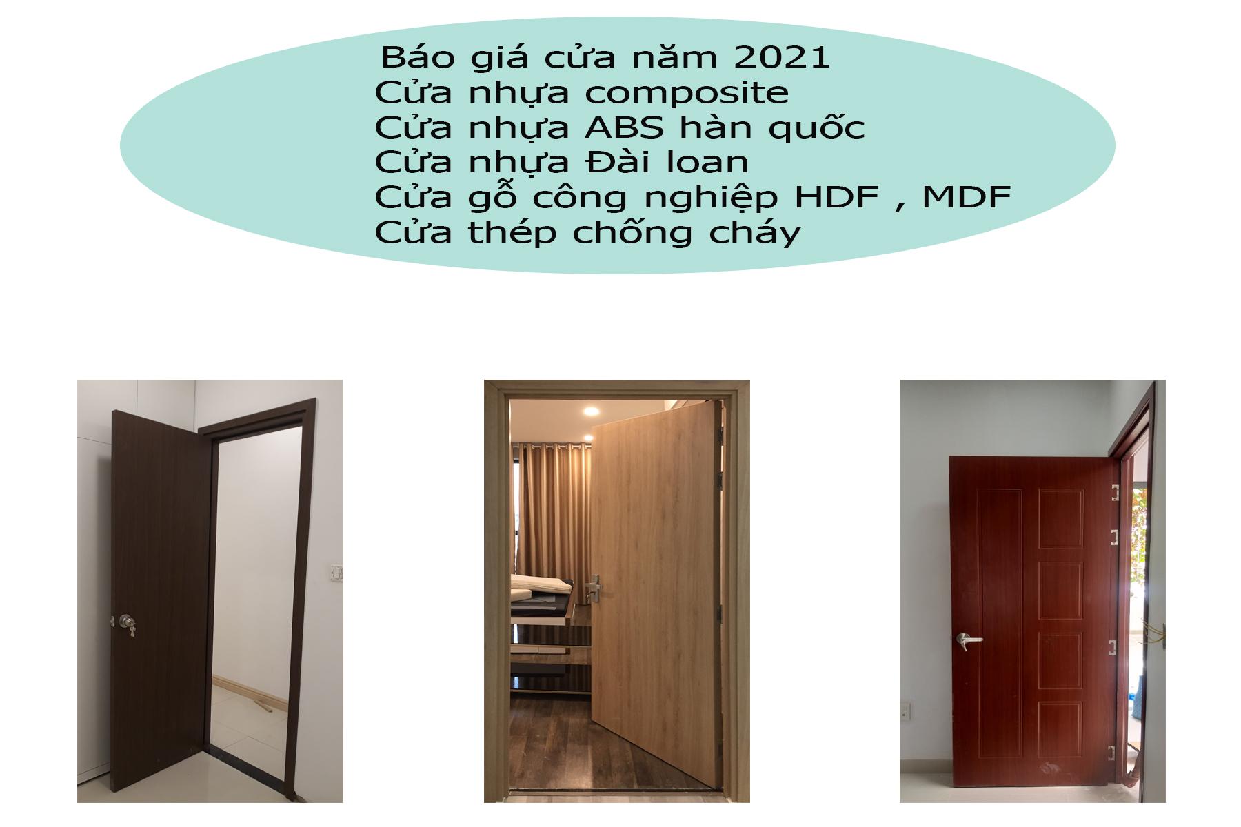 Giá cửa nhựa , cửa gỗ công nghiệp và cửa thép chống cháy năm 2021 0