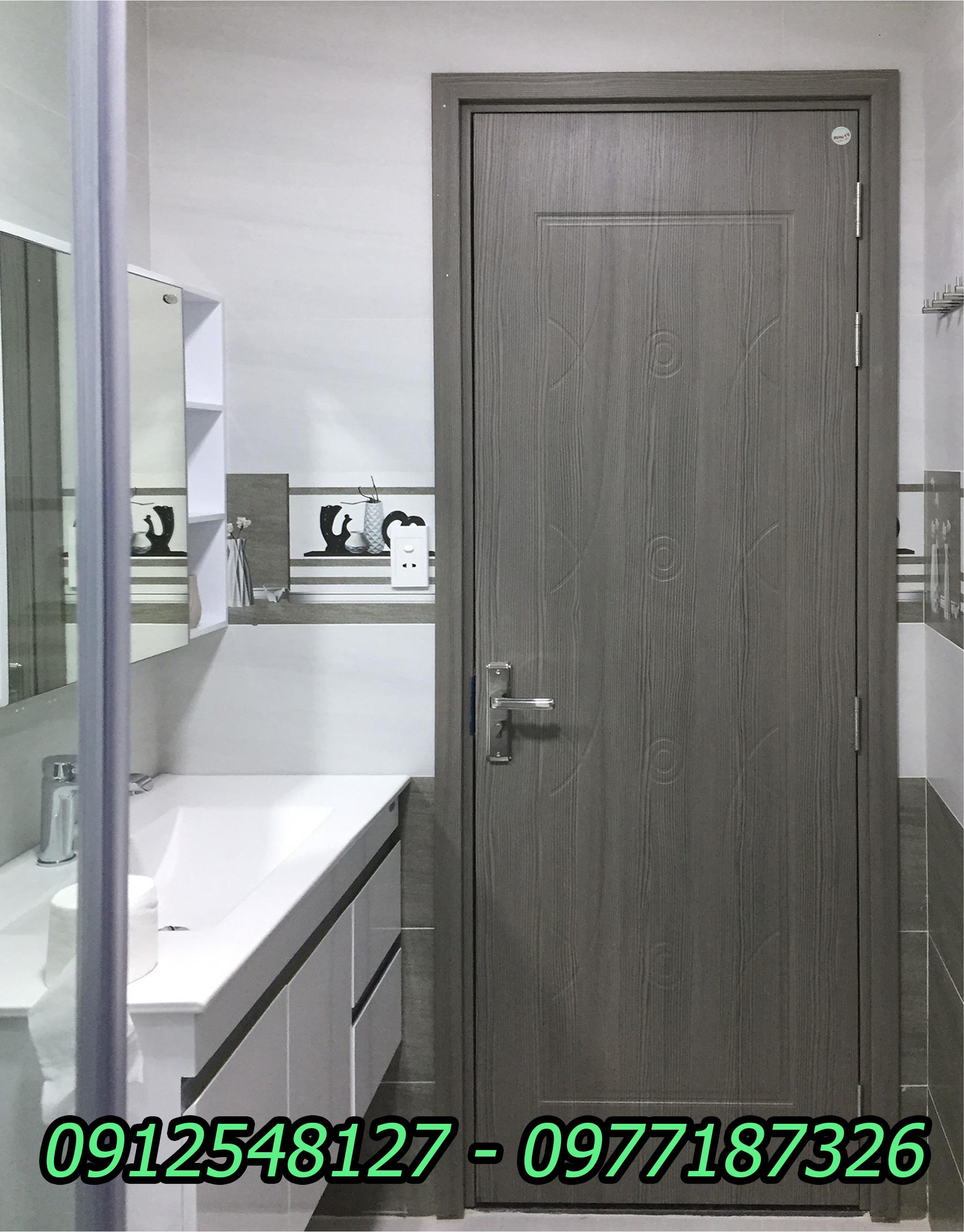 cửa nhựa composite lắp cho nhà vệ sinh