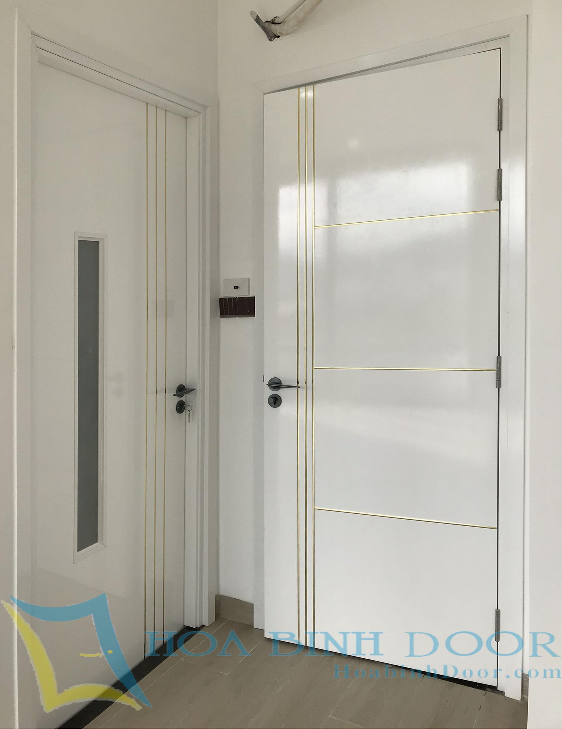 mẫu cửa composite sơn pu