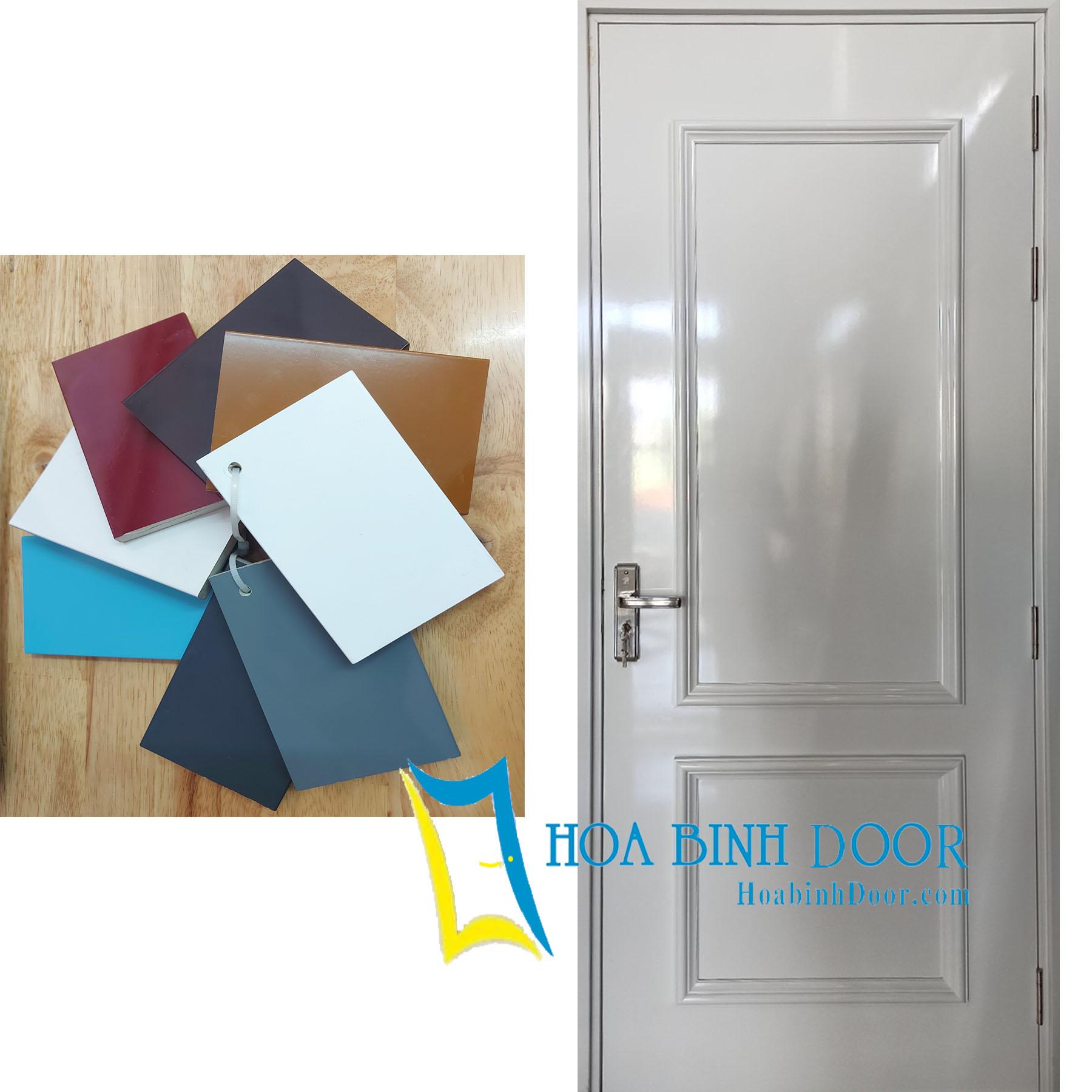 cửa nhựa giả gỗ composite sơn pu