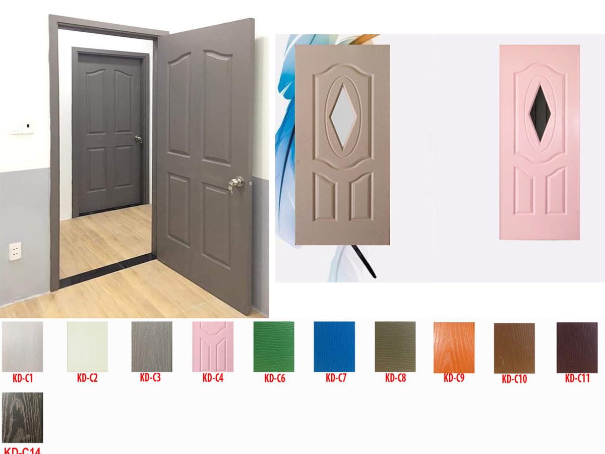 giá lắp đặt hoàn thiện cửa gỗ công nghiệp hdf sơn